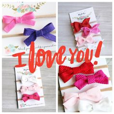 Today is the LAST DAY to score some of these Valentine's Day goodies in order to receive them in time for the holiday! Don't let your little girl's first day of love pass by without a beautiful bow in her hair! 😍💗❤️🎀💋