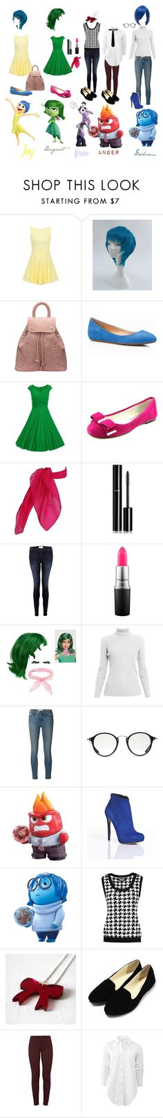 """""""Inside Out"""" by jade-alicia-sherry ❤ liked on Polyvore featuring Talbots, MICHAEL Michael Kors, Chanel, Frame Denim, MAC Cosmetics, Rumour London, Ray-Ban, Nicholas Kirkwood, Disney and Boutique Moschino"""