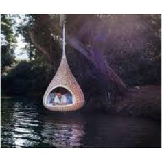 I totally want this bed! It's like a hammock for your house!