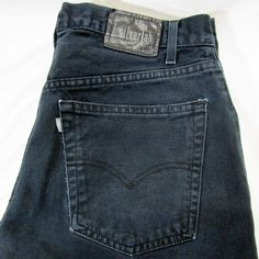 Levis Silvertab Black Baggy Jeans Size 34 x 36 See Measurements #SilverTab #BaggyLoose