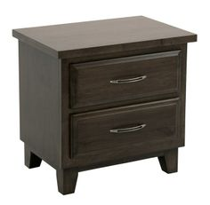 Pender 2 drawer Night Stand. Shown with a Smokey Stain on Eastern Hard Maple. These are HIGH Quality builds from www.purbafurniture.com  The Bedroom Gallery Is a proud retailer of these fine night stands.