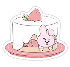 New cake drawing pink ideas Fanart Bts, Cake Drawing, Pink Drawing, Line Friends, Bts Drawings, Bts Chibi, Kpop, Bts Fans, Aesthetic Stickers