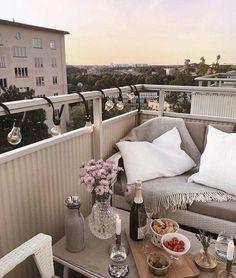 Colors, sofa – balcony garden 100 – Home Design Ideas Outdoor Balcony, Balcony Garden, Outdoor Spaces, Terrace, Outdoor Living, Outdoor Decor, Balcony Ideas, Interior Exterior, Exterior Design