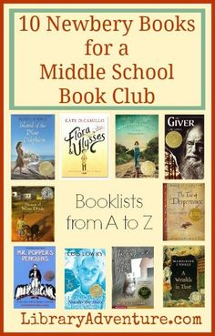 10 Newbery Books for a Middle School Book Club