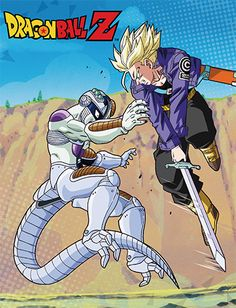 Dragon Ball Blanket - Mecha Frieza Vs. Super Saiyan Trunks