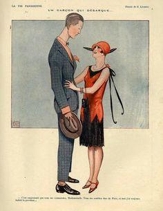 Georges Léonnec (1881 - 1940). La Vie Parisienne, 1920s. [Pinned 22-i-2015]