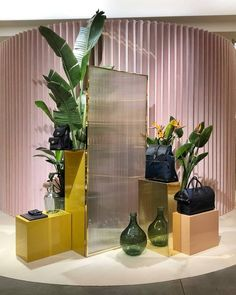 Image may contain: plant and indoor Spring Window Display, Window Display Retail, Window Display Design, Display Windows, Showroom Interior Design, Retail Interior, Retail Store Design, Retail Stores, Store Displays