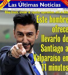 INFORMADORCHILE: Este hombre promete viajar de Santiago a Valparaís...