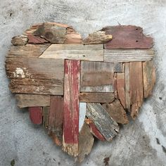 A personal favorite from my Etsy shop https://www.etsy.com/listing/227204314/reclaimed-wooden-heart