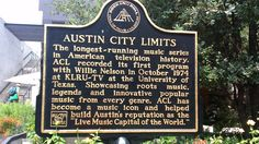 The history of Austin City Limits.  This plaque is located in front of the W Hotel in the 2nd Street district