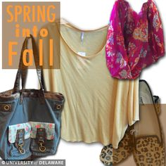 Spring into fall fashions with clothing from the Bookstore.