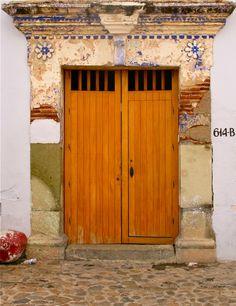a lovely colonial door in Jalatlaco, Oaxaca City