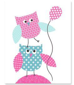https://www.etsy.com/es/listing/185214580/nursery-art-print-owls-aqua-and-fuchsia?ref=related-2