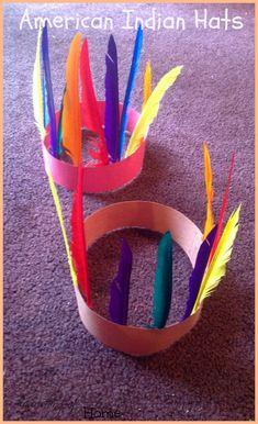 Early American Indian Hats/Headbands - Toddler/Preschooler Activity