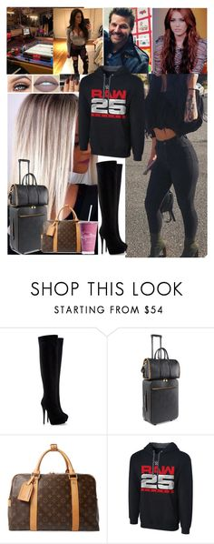 """""""Arriving to the arena 💖Carola💖"""" by carolalink ❤ liked on Polyvore featuring Mus, Kylie Cosmetics, Giuseppe Zanotti, STELLA McCARTNEY, Louis Vuitton and WWE"""