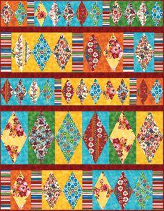 "FREE pattern: ""Gaughin's Garden"" by Heidi Pridemore (from Robert Kaufman Fabrics)"