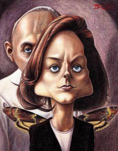 Silence of the Lambs #Caricature #FunnyFaces