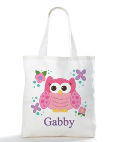 Look at this #zulilyfind! Sweet Owl Personalized Tote Bag by Personalized Planet #zulilyfinds