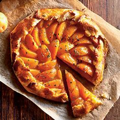 Apricot-Thyme Galette. A little bit of almond flour (also labeled almond meal) makes the dough more tender. Look for it on the baking aisle or in the gluten-free section.