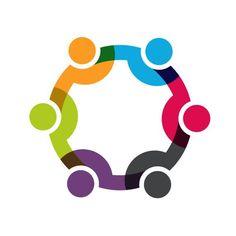 Social people network logo clip art. Concept for a friendship, teamwork, social business