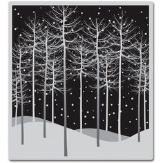 Hero Arts Cling Stamps-Winter Trees                                                                                                                                                                                 More