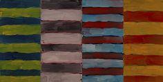 Sean Scully The Gatherer, 2014 Oil on aluminium 110 x 213 1/4 in. 279.4 x 541.5 cm