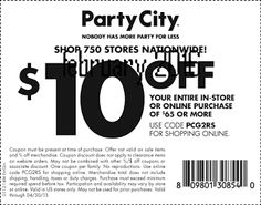 Party City Coupons Ends of Coupon Promo Codes MAY 2020 ! When grandma's your deserving parties splendid where we Party creating . Free Printable Coupons, February 2016, Coding, Printables, City, Print Templates, Cities, Programming
