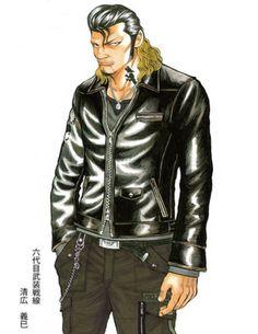六代目武装戦線副頭 清広義巳 Crows Zero, Manga Artist, Gangsters, Bikers, Crowns, Leather Jacket, Fancy, My Favorite Things, Comics