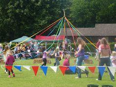 An English Summer Fete, maypole dancing