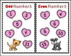 """FREE MATH LESSON - """"Even and Odd Numbers"""" - Go to The Best of Teacher Entrepreneurs for this and hundreds of free lessons. Kindergarten - 2nd Grade   http://www.thebestofteacherentrepreneurs.net/2017/01/free-math-lesson-even-and-odd-numbers.html"""