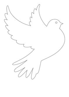 thumbnail of güvercin 4 Stencil, International Day Of Peace, Spring Coloring Pages, Sunday School Activities, Felt Pictures, Paper Chains, Rainbow Fish, Paper Birds, Scroll Saw Patterns