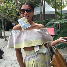 Spotted at SOBEWFF this weekend: Hannah Bronfman enjoying some ginnybakes!