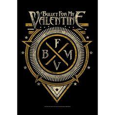 """#Bandiera """"Emblem"""" dei Bullet For My Valentine con stampa."""
