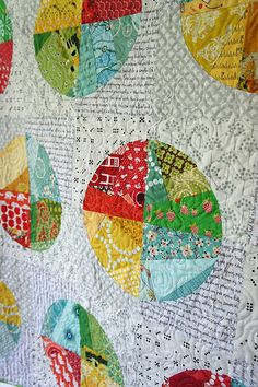 Castoffs Quilt – Pattern Available in Quilt Now – Angela Pingel Circle Quilt Patterns, Circle Quilts, Quilt Blocks, Cute Quilts, Lap Quilts, Scrappy Quilts, Bright Quilts, Colorful Quilts, Quilting Projects