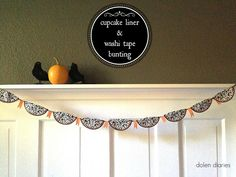 Cupcake liner garland - I'm always looking for quick and easy ways to add a little festive touches around the house.