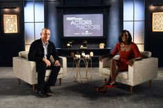 #TomHanks and #ViolaDavis during their actors on actors sit down. . #varietymagazine #howtogetawaywithmurder #htgawm #fences #actress #fashion #laughter #comedy #like #follow #celebedition #variety