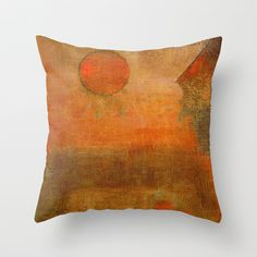 Seara Vermelha Throw Pillow by Fernando Vieira