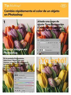5 trucos para modificar el color en Photoshop - Hello! Creatividad #tips #photoshop #fotografia #edicion