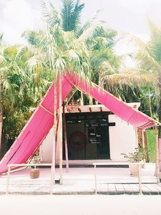 """What an interesting way to shade a patio: a huge tent, almost like a child's tent when building a """"cave."""" From tulum: a few favorite spots to eat & shop / sfgirlbybay Architecture Design, Pergola, Victoria, Roadtrip, Mexico Travel, Riviera Maya, Plein Air, Oh The Places You'll Go, Travel Inspiration"""