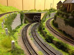 N Scale, Railroad Tracks, Diorama, Train, Model Trains, Leipzig, Model Building, Dioramas, Strollers