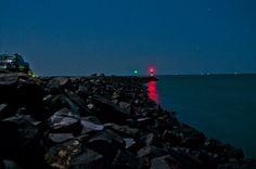 full moon shoot of Urangan Marina rockwall
