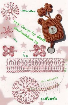 Image result for how to make amigurumi mushroom key cover
