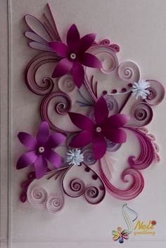 Neli is a talented quilling artist from Bulgaria. Her unique quilling cards bring joy to people around the world. Neli Quilling, Quilling Work, Origami And Quilling, Quilled Paper Art, Quilling Paper Craft, Paper Crafts, Diy Crafts, Quilling Patterns, Quilling Designs
