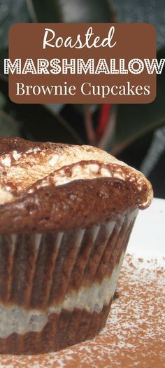 What happens when you combine brownie batter and marshmallow fluff? Roasted Marshmallow Brownie Cupcakes! This recipe is perfect for the kid in everyone.