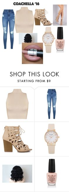 """""""Coachella"""" by colonkairee ❤ liked on Polyvore featuring WearAll, Lipsy and OPI"""