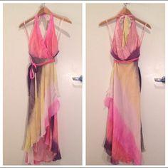 "Spotted while shopping on Poshmark: ""Colorful BCBG silk dress. Size 4""! #poshmark #fashion #shopping #style #BCBGMaxAzria #Dresses & Skirts"
