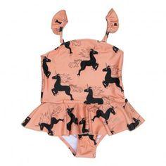 Unicorn One Piece Swimsuit Pink  Mini Rodini