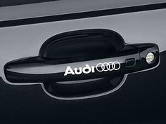 """Audi .5"""" x 3.25"""" Door handle or Rim Decals for the A, S and TT series Audi. Comes in a variety of colors and is the perfect accent to your Audi to set you apart from the Majority."""