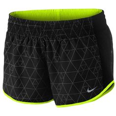 "Nike Dri-FIT 2"" Racer Short - Women's - Running - Clothing - Black/Black/Volt/Reflective Silver"