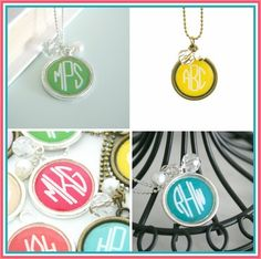 Very Jane: Bright Monogram Necklace (20 Color Options) ONLY $6.99! - Living Chic on the Cheap  http://livingchiconthecheap.com/very-jane-bright-monogram-necklace-20-color-options-only-6-99/